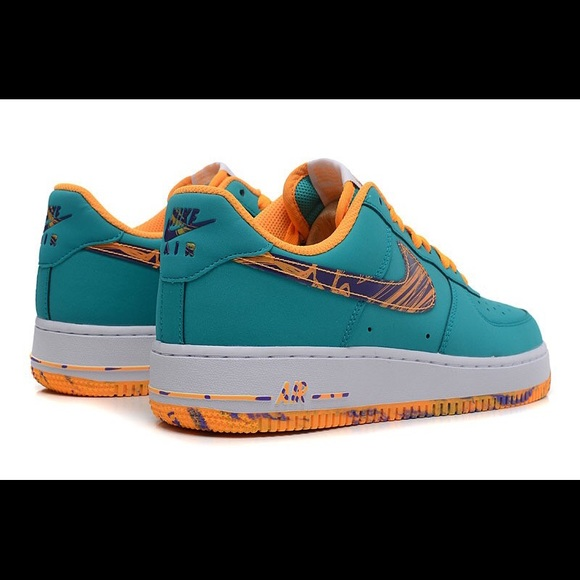 Nike AF1 Low Turbo Green Purple Venom Atomic Mango